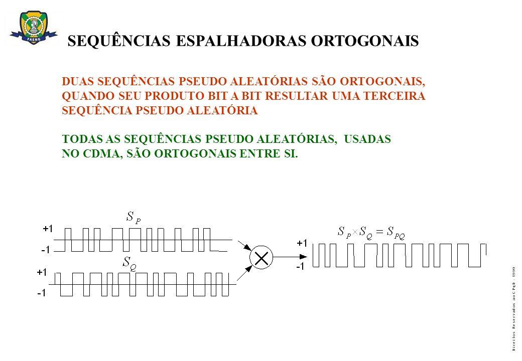 SEQUÊNCIAS ESPALHADORAS ORTOGONAIS