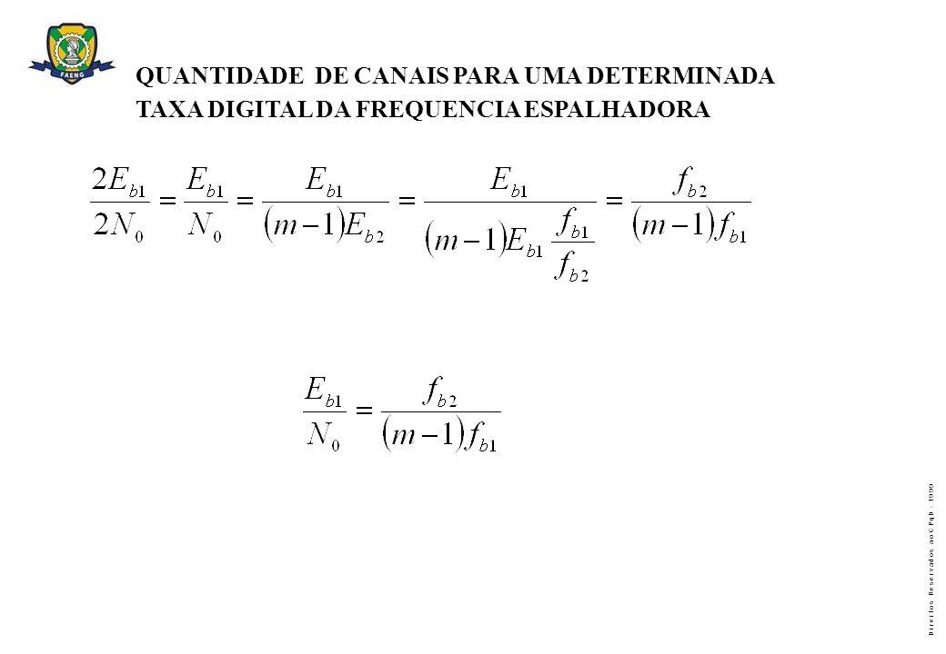 QUANTIDADE DE CANAIS PARA UMA DETERMINADA