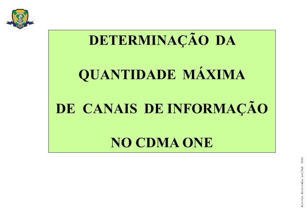 DE CANAIS DE INFORMAÇÃO