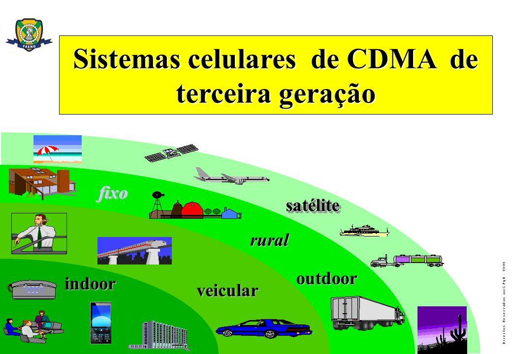 Sistemas celulares de CDMA de terceira geração