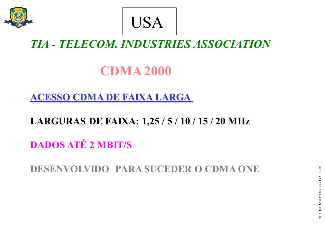 USA USA TIA - TELECOM. INDUSTRIES ASSOCIATION CDMA 2000