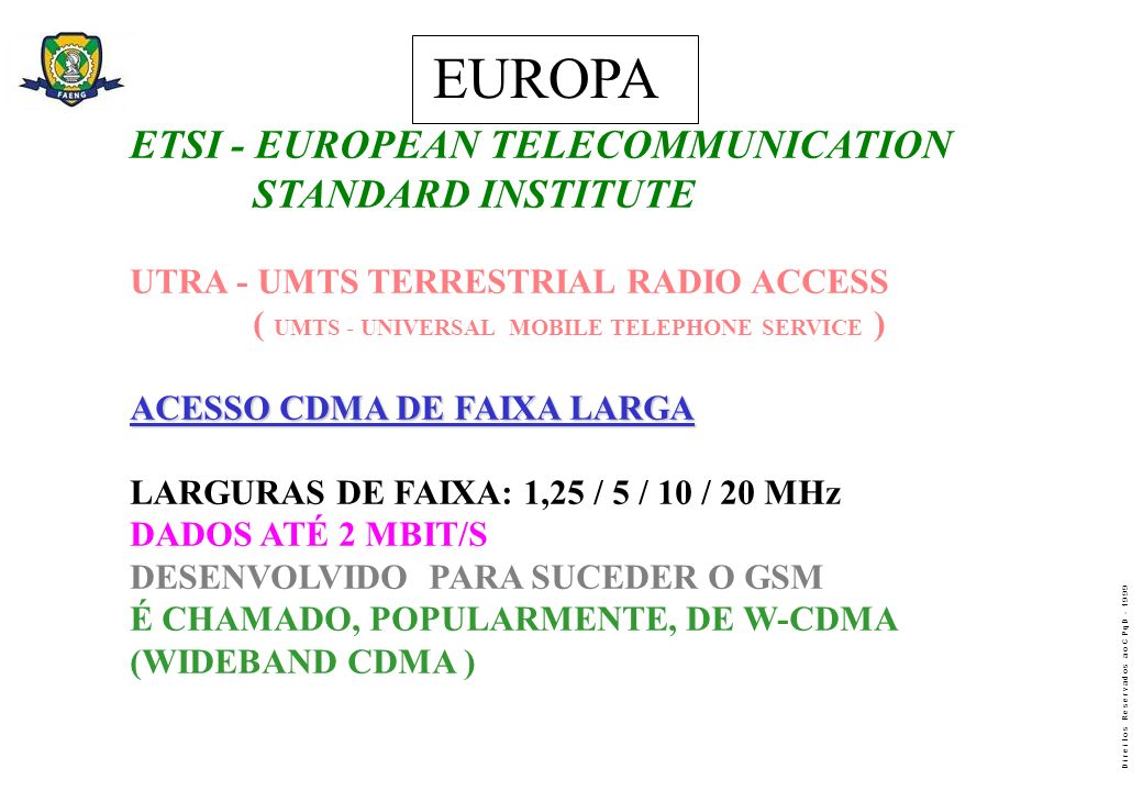 EUROPA ETSI - EUROPEAN TELECOMMUNICATION STANDARD INSTITUTE