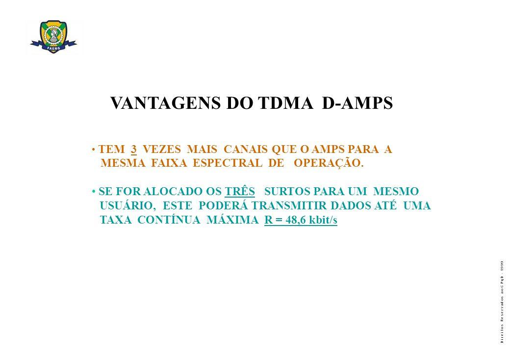 VANTAGENS DO TDMA D-AMPS