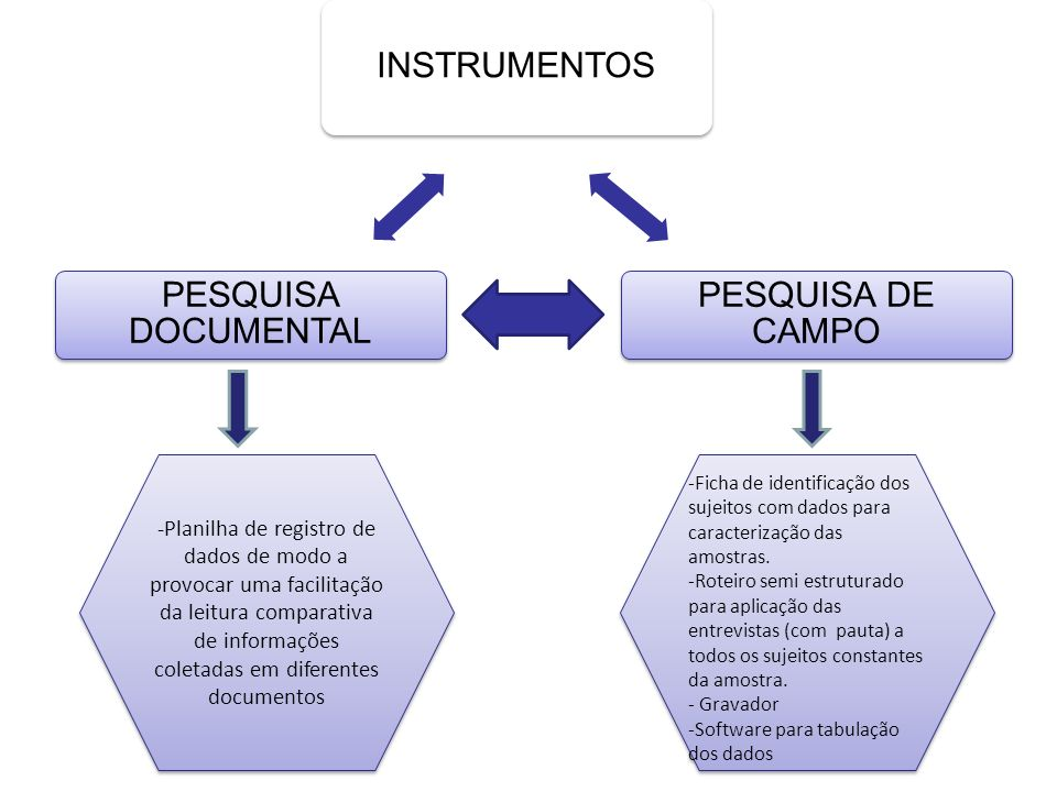 INSTRUMENTOS PESQUISA DE CAMPO PESQUISA DOCUMENTAL