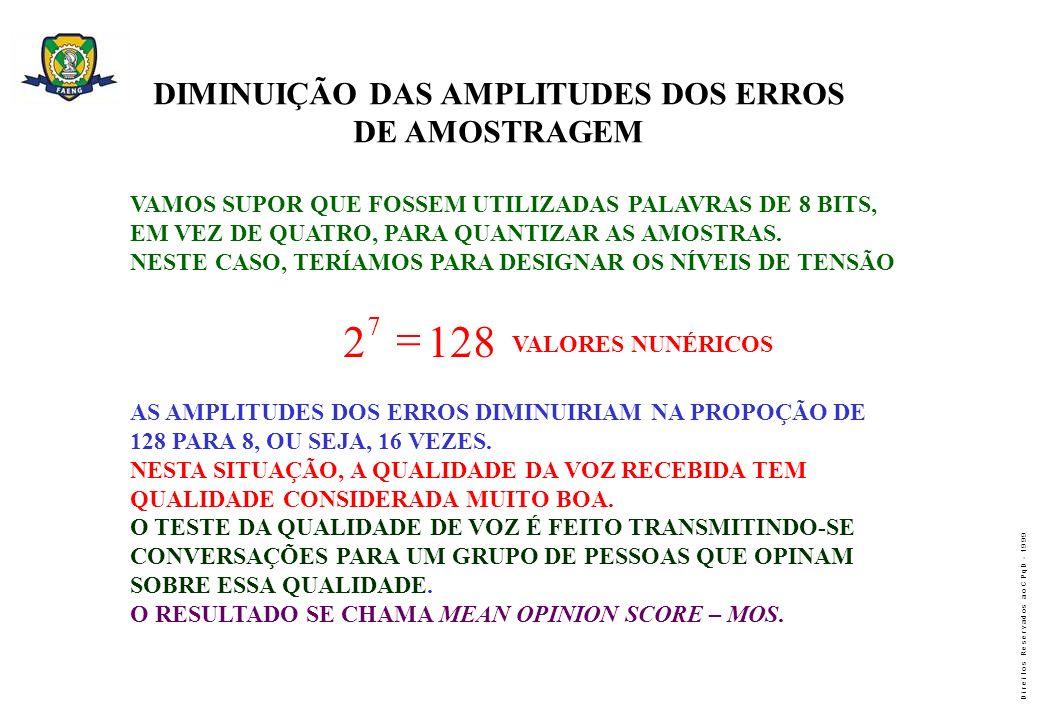 DIMINUIÇÃO DAS AMPLITUDES DOS ERROS