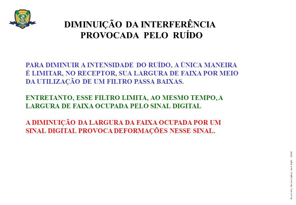 DIMINUIÇÃO DA INTERFERÊNCIA