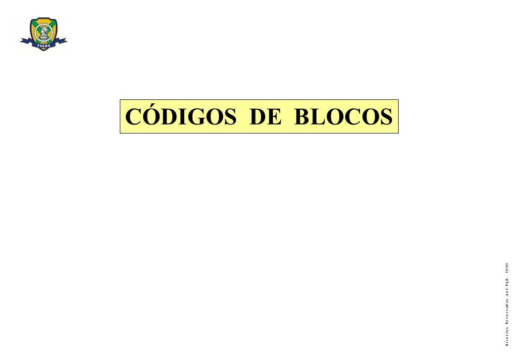 CÓDIGOS DE BLOCOS