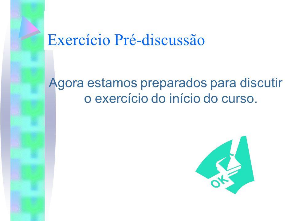 Exercício Pré-discussão