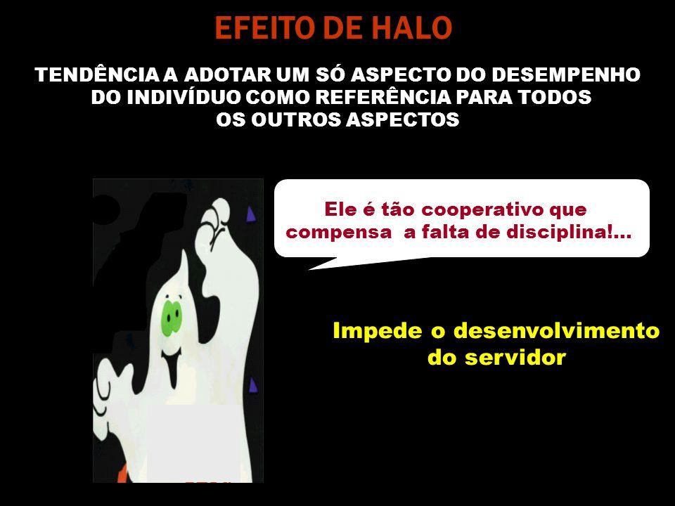 EFEITO DE HALO Impede o desenvolvimento do servidor