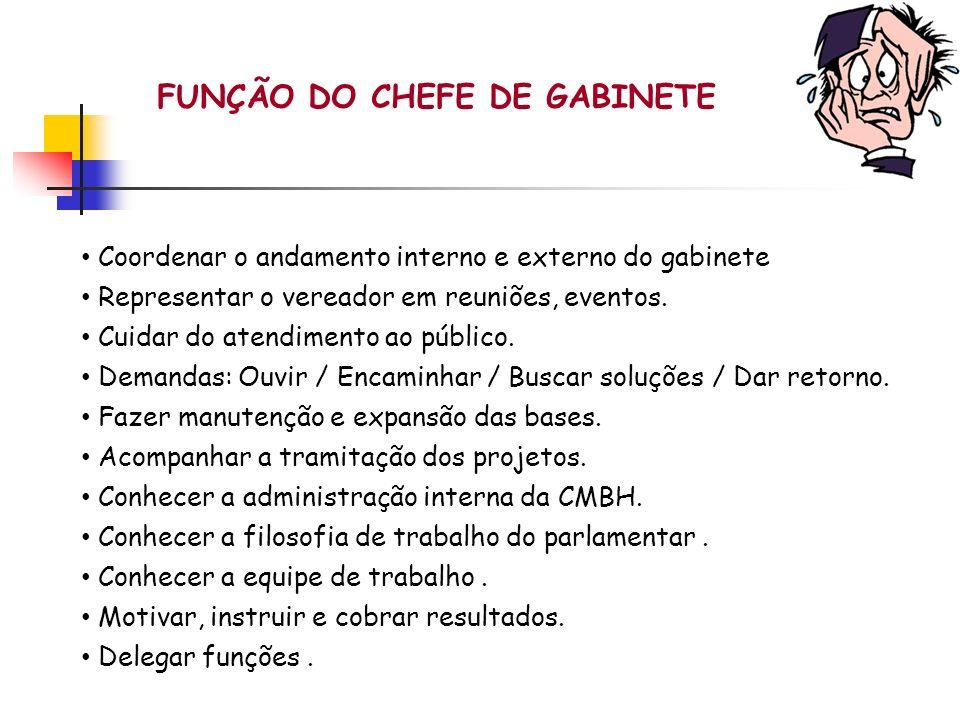 FUNÇÃO DO CHEFE DE GABINETE