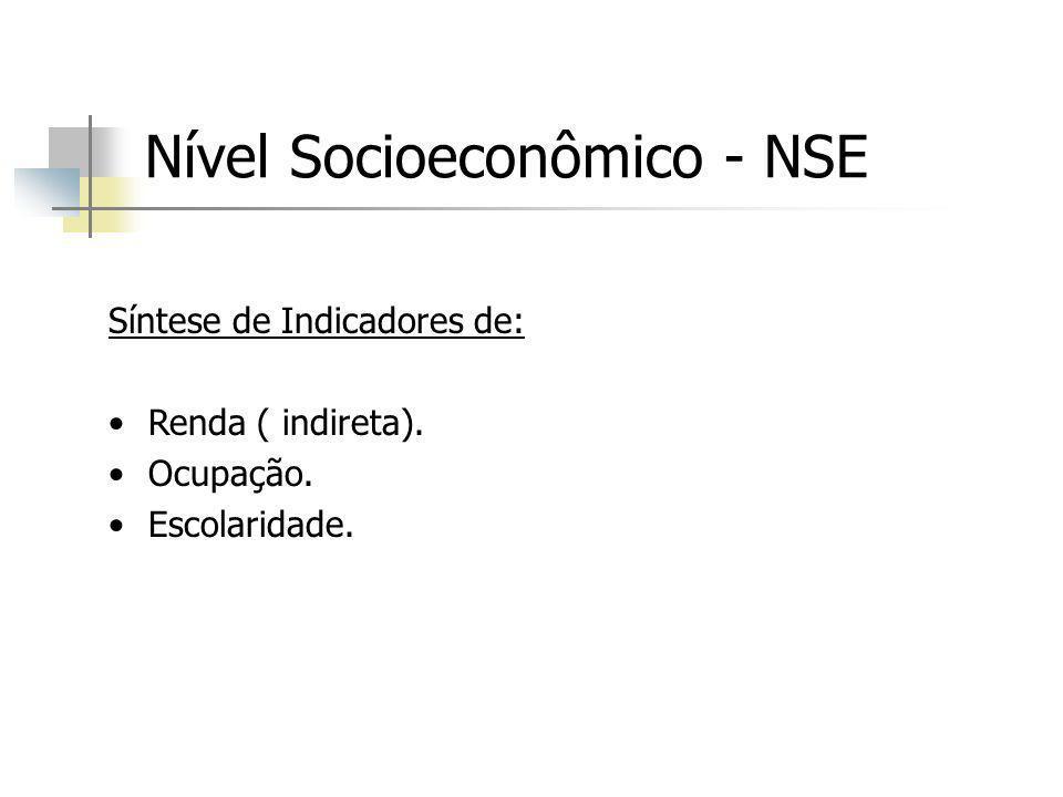 Nível Socioeconômico - NSE
