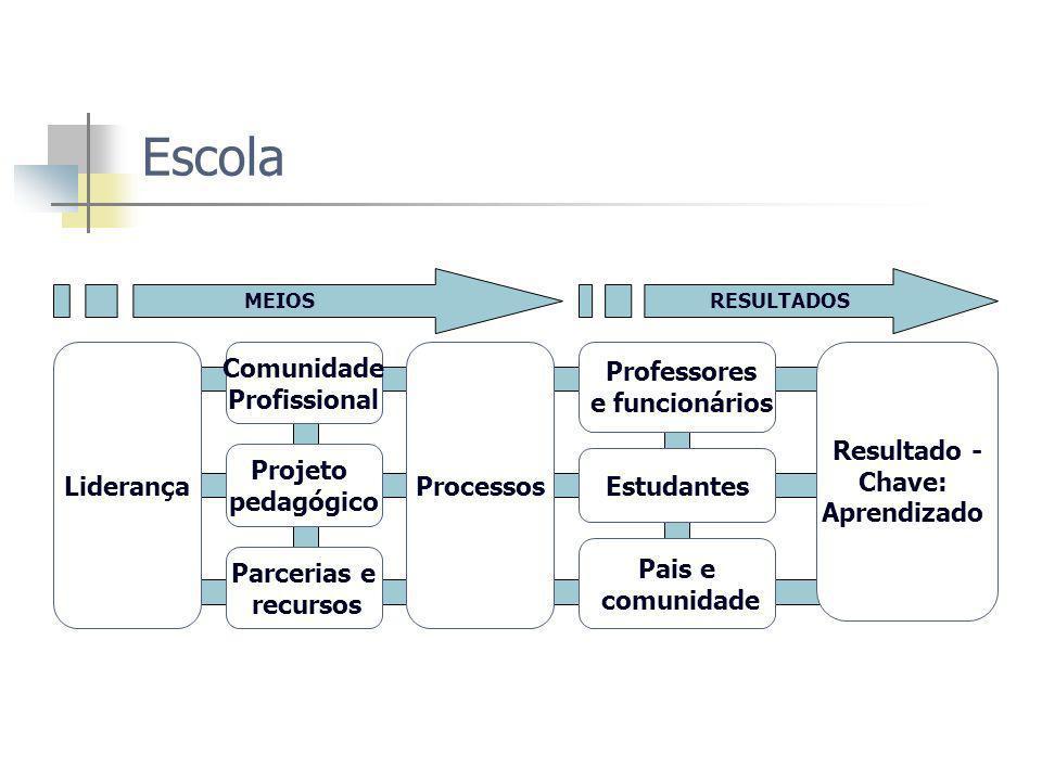 Escola Liderança Comunidade Profissional Processos Professores