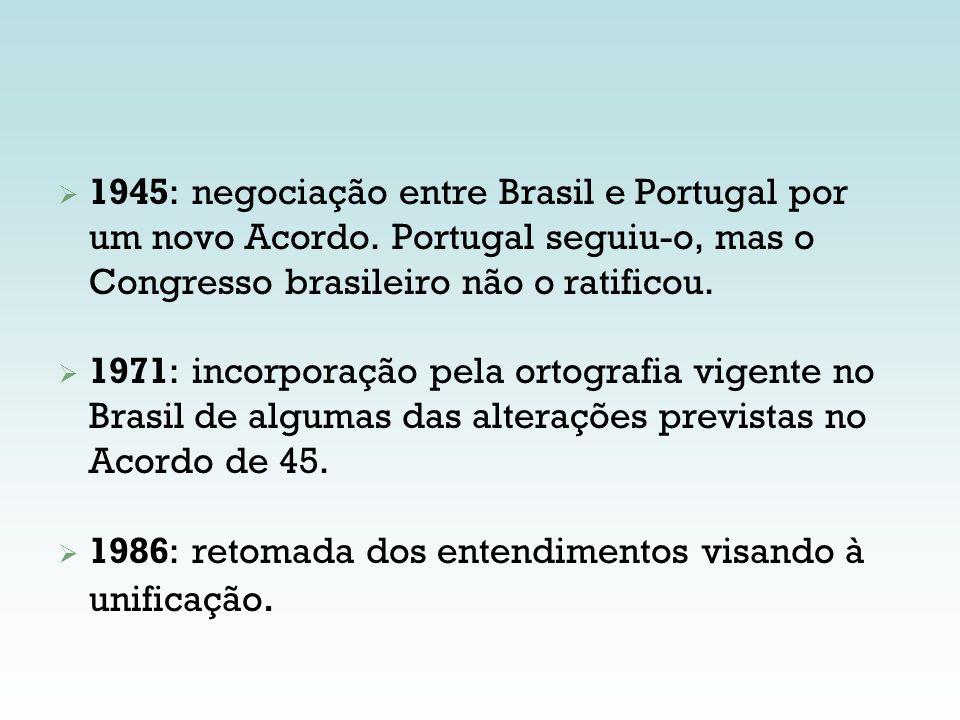 1945: negociação entre Brasil e Portugal por um novo Acordo