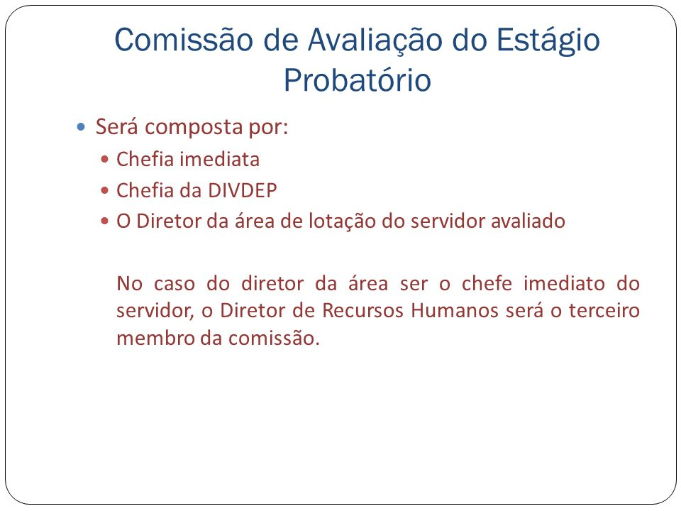 Comissão de Avaliação do Estágio Probatório