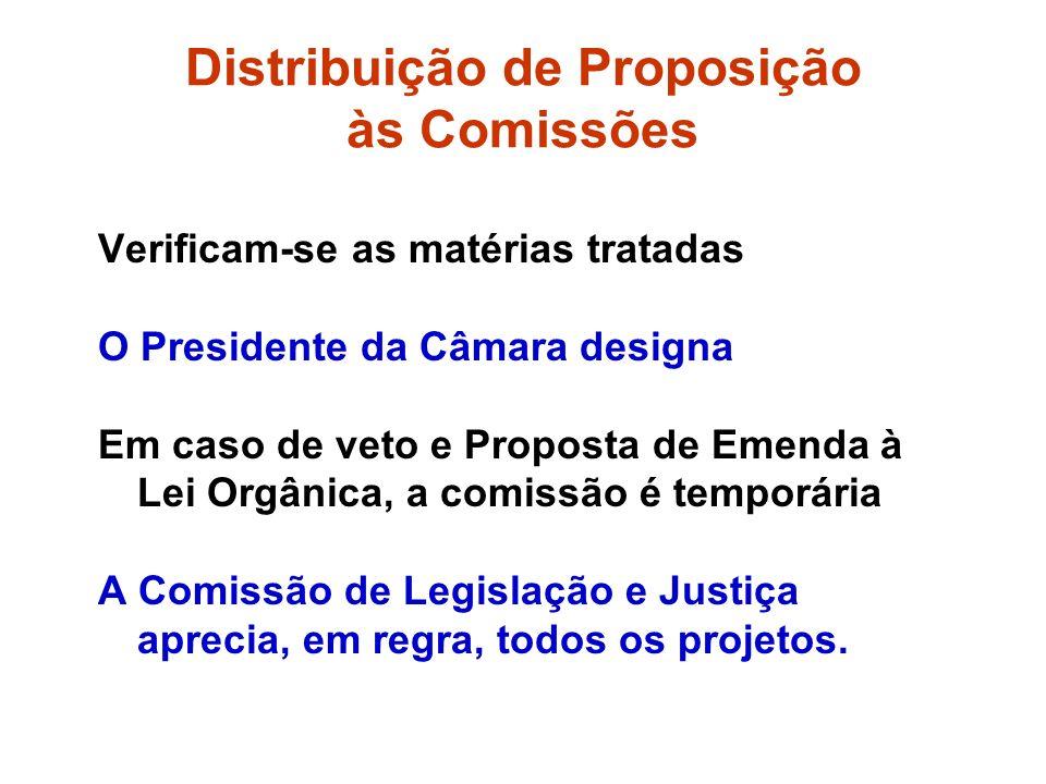 Distribuição de Proposição às Comissões