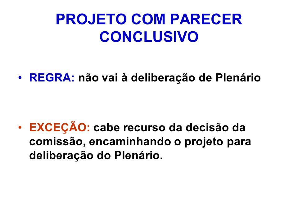 PROJETO COM PARECER CONCLUSIVO