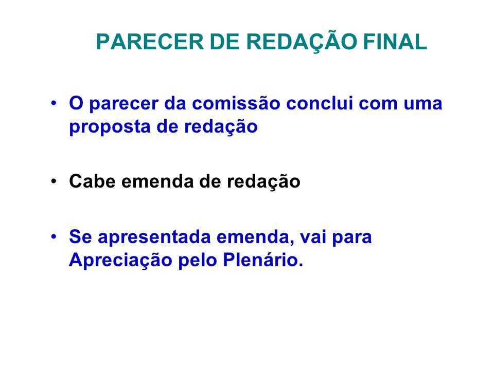 PARECER DE REDAÇÃO FINAL
