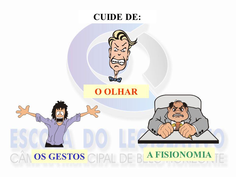 CUIDE DE: O OLHAR A FISIONOMIA OS GESTOS