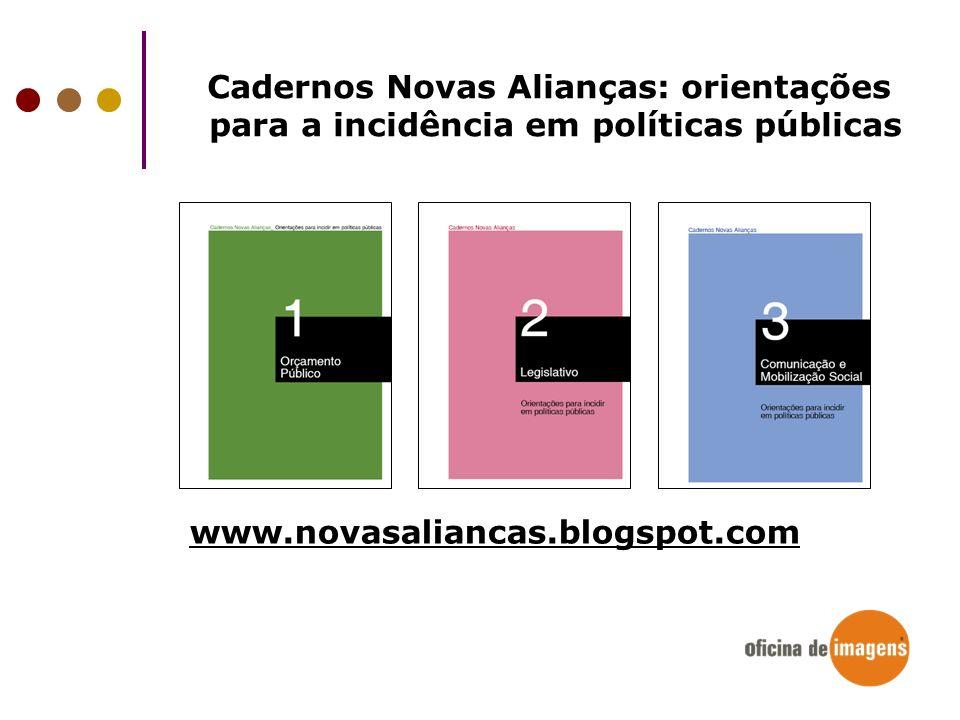 Cadernos Novas Alianças: orientações
