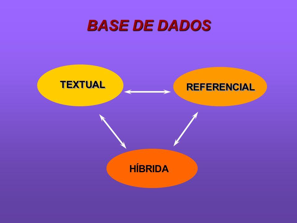 BASE DE DADOS TEXTUAL REFERENCIAL HÍBRIDA