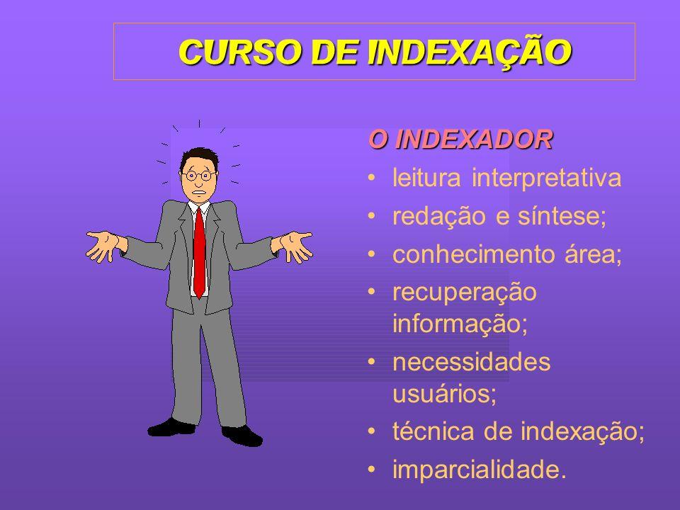 CURSO DE INDEXAÇÃO CURSO DE INDEXAÇÃO