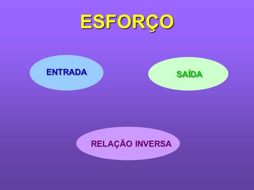 ESFORÇO ENTRADA SAÍDA RELAÇÃO INVERSA