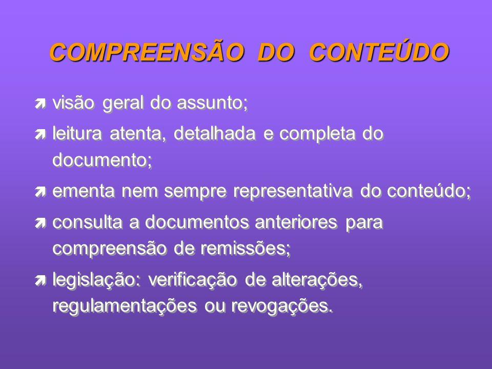COMPREENSÃO DO CONTEÚDO