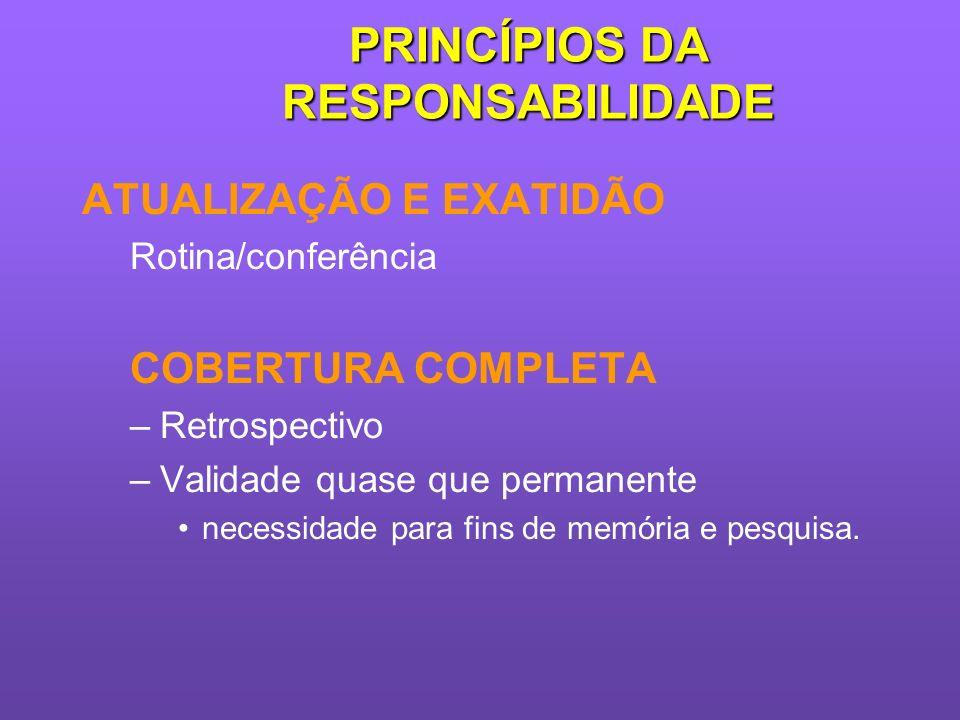 PRINCÍPIOS DA RESPONSABILIDADE