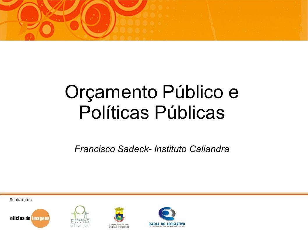 Orçamento Público e Políticas Públicas