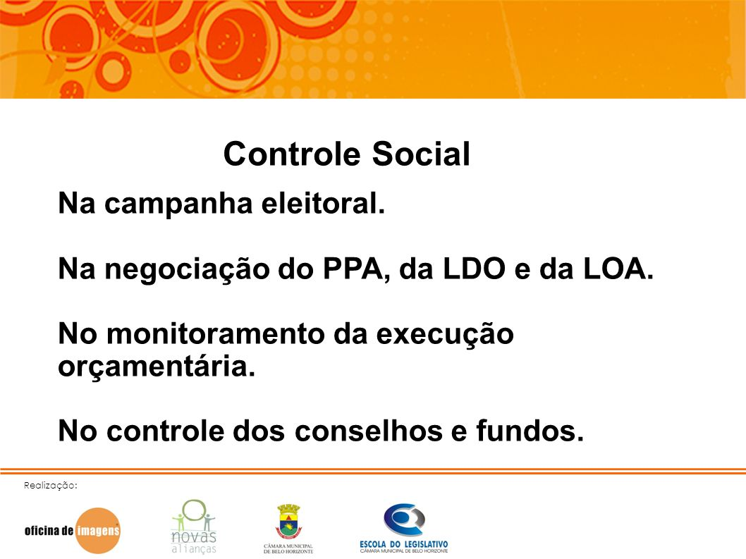 Controle Social Na campanha eleitoral.