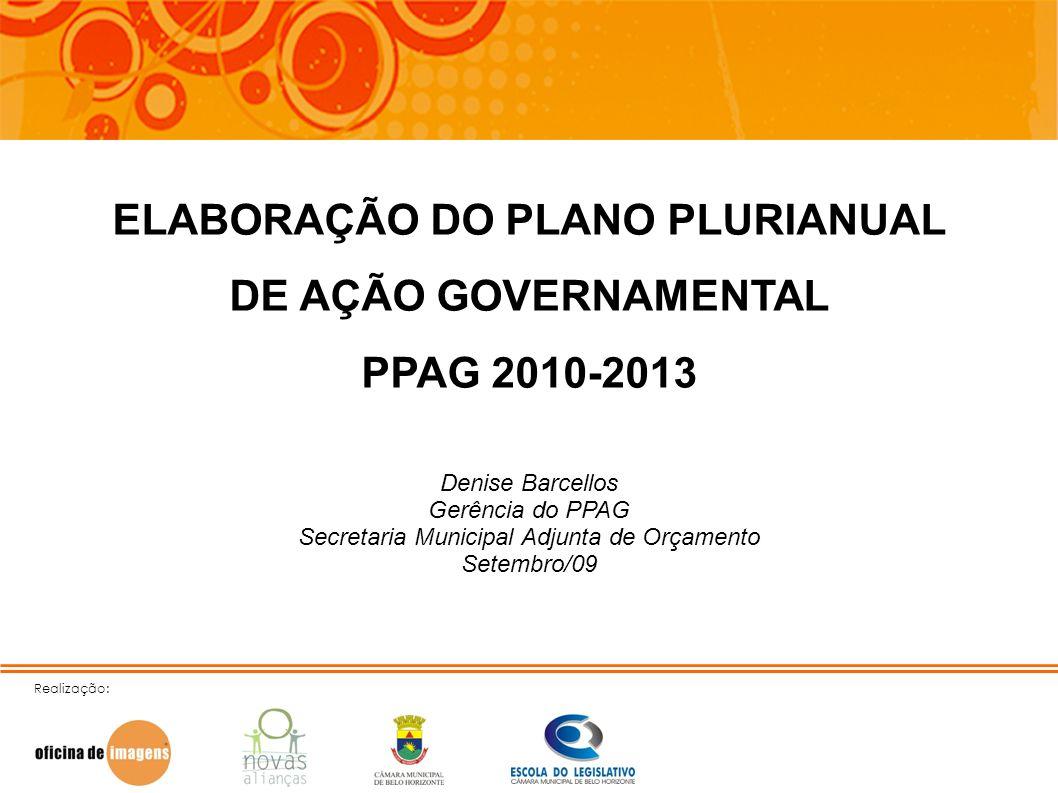 ELABORAÇÃO DO PLANO PLURIANUAL DE AÇÃO GOVERNAMENTAL