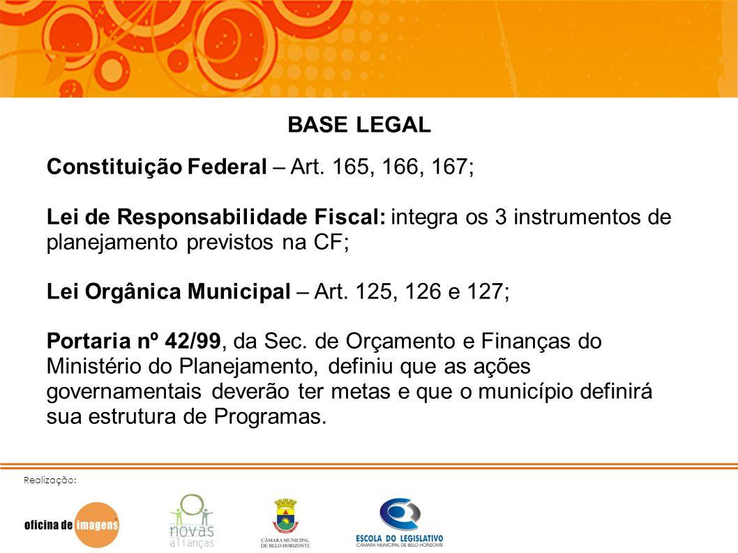 Constituição Federal – Art. 165, 166, 167;