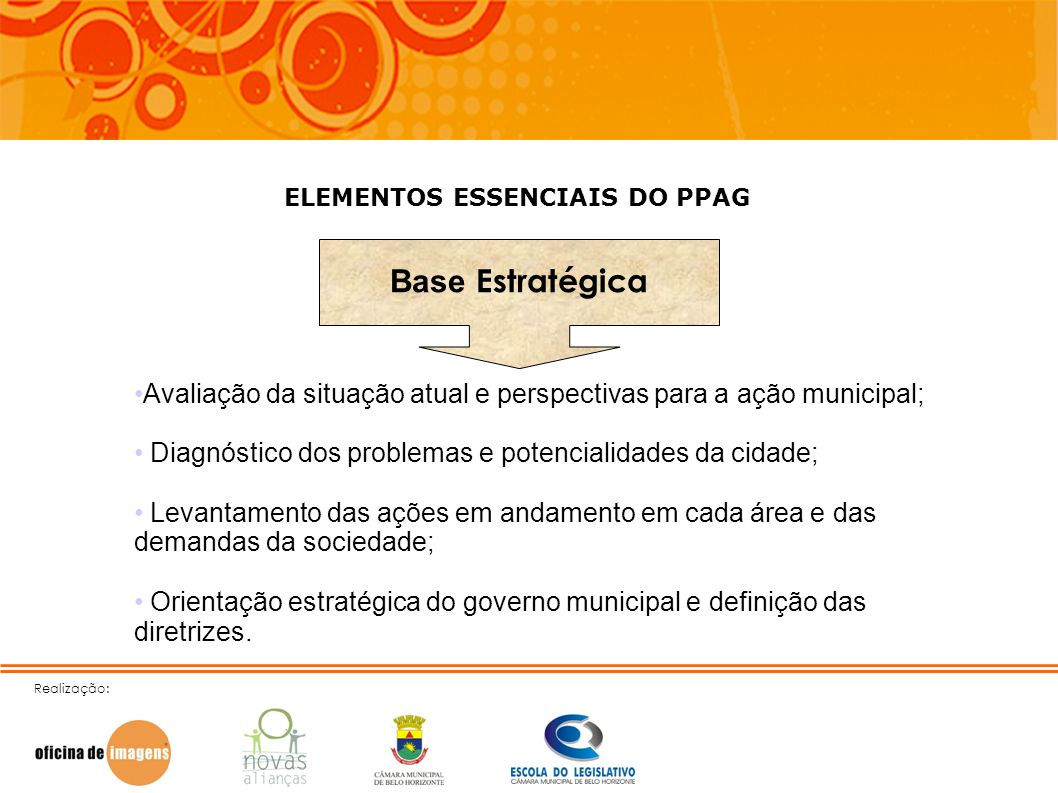 ELEMENTOS ESSENCIAIS DO PPAG