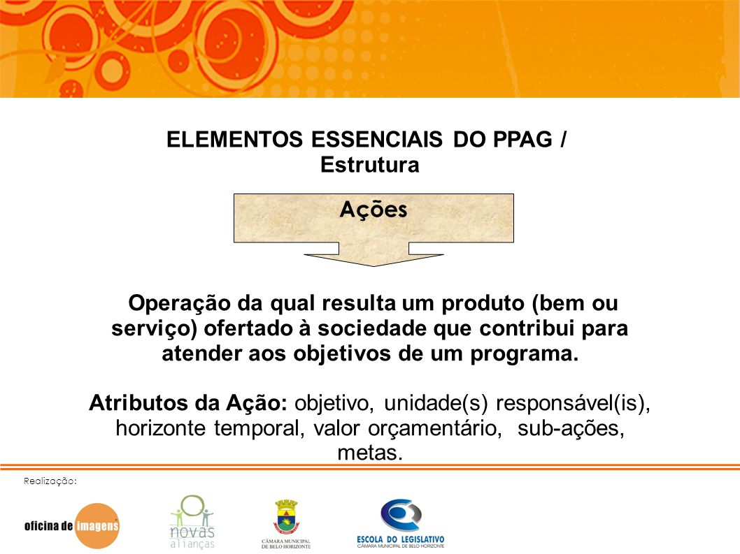 ELEMENTOS ESSENCIAIS DO PPAG /