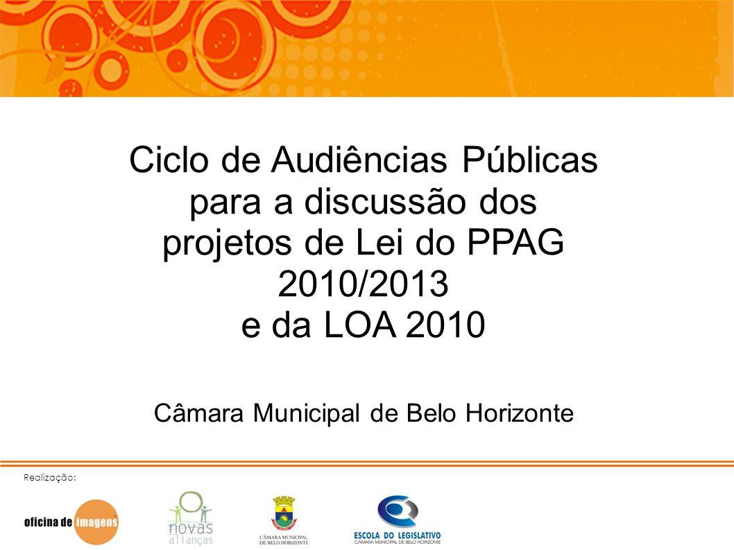 Ciclo de Audiências Públicas para a discussão dos projetos de Lei do PPAG 2010/2013