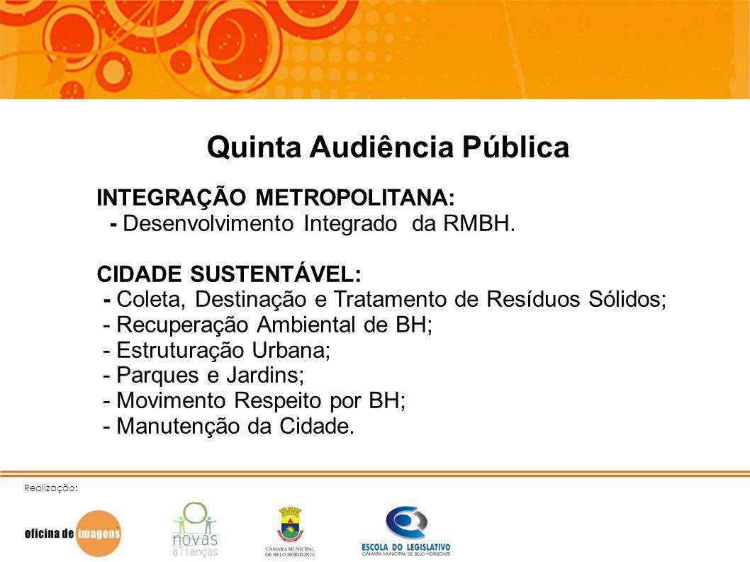 Quinta Audiência Pública