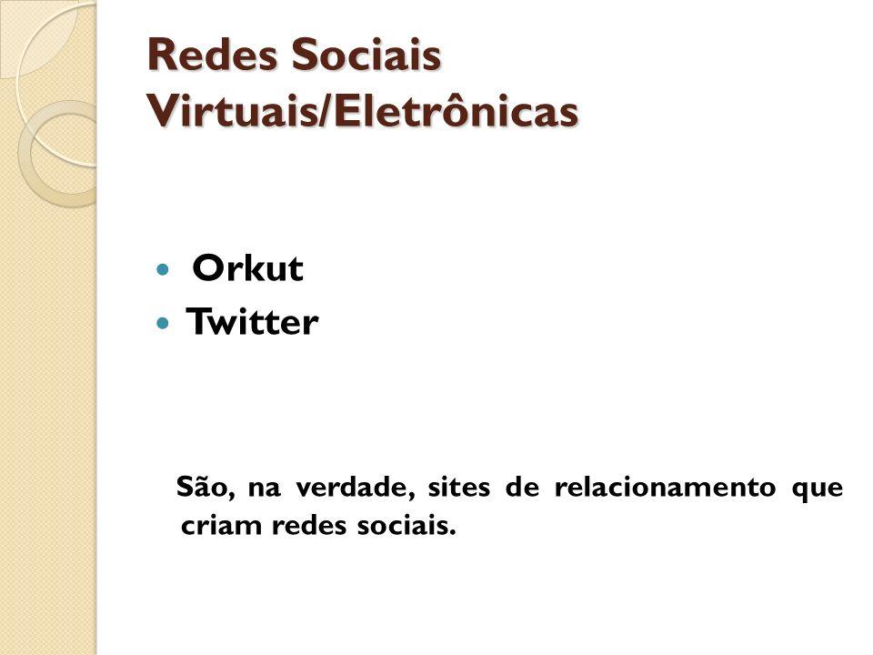 Redes Sociais Virtuais/Eletrônicas