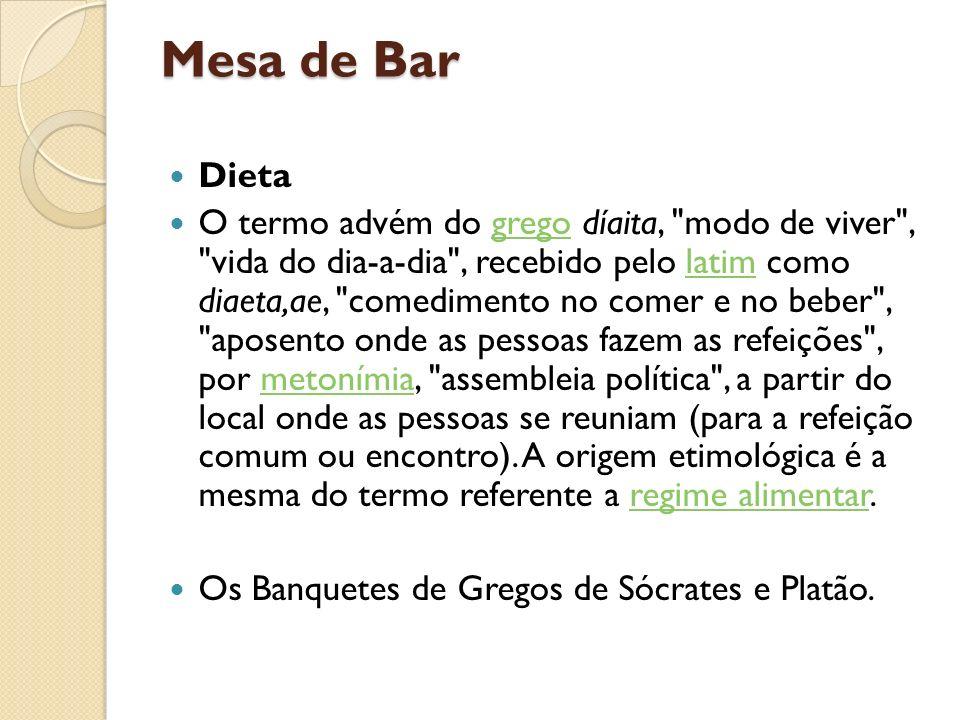 Mesa de Bar Dieta.