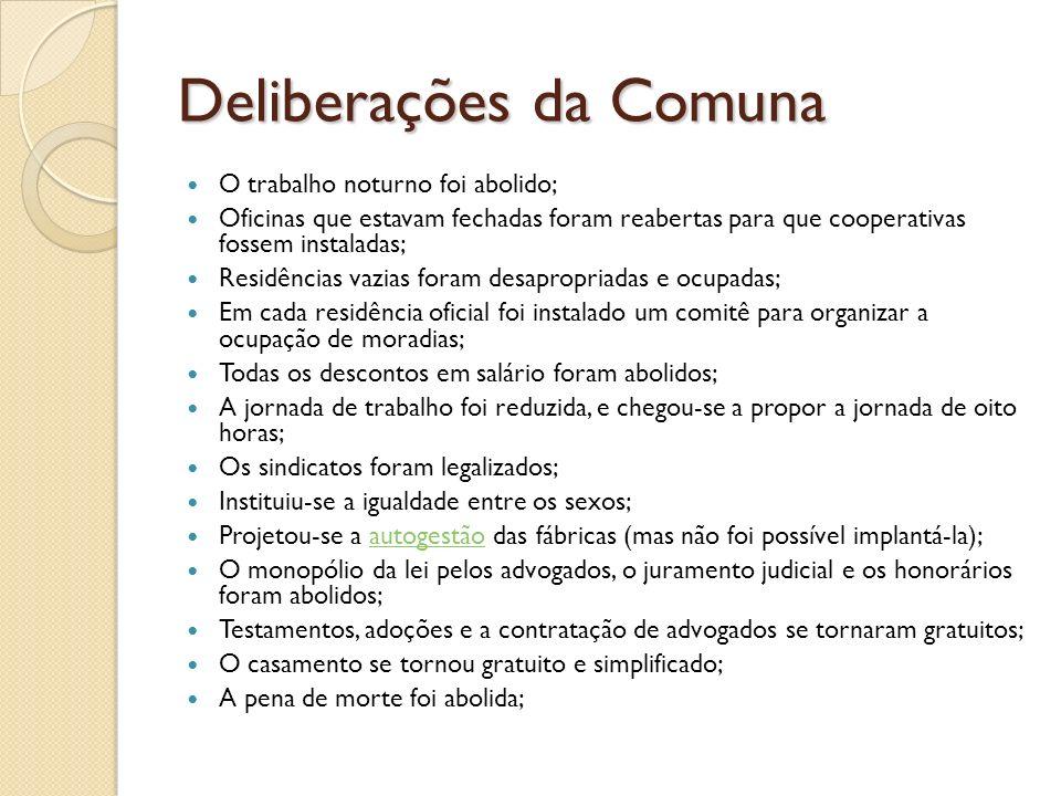 Deliberações da Comuna
