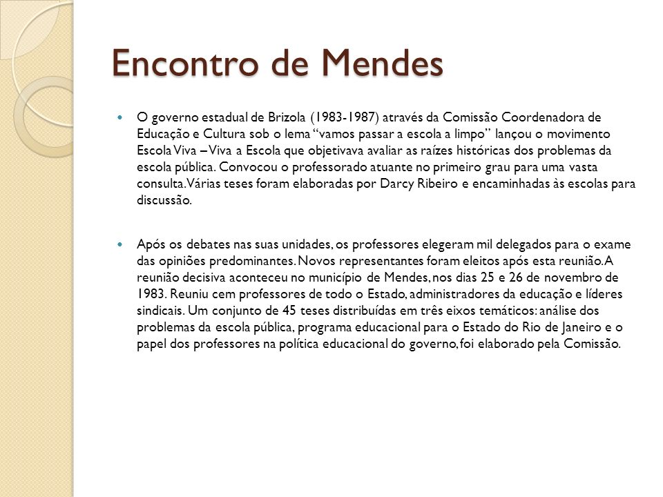 Encontro de Mendes