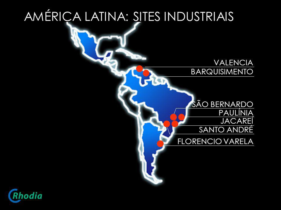 AMÉRICA LATINA: SITES INDUSTRIAIS