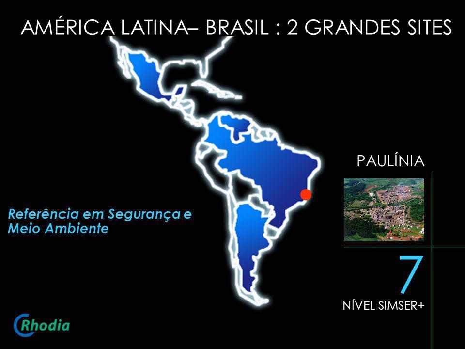 7 AMÉRICA LATINA– BRASIL : 2 GRANDES SITES PAULÍNIA