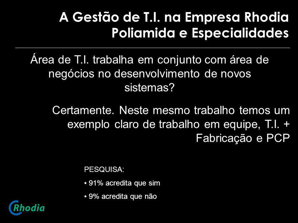 A Gestão de T.I. na Empresa Rhodia Poliamida e Especialidades