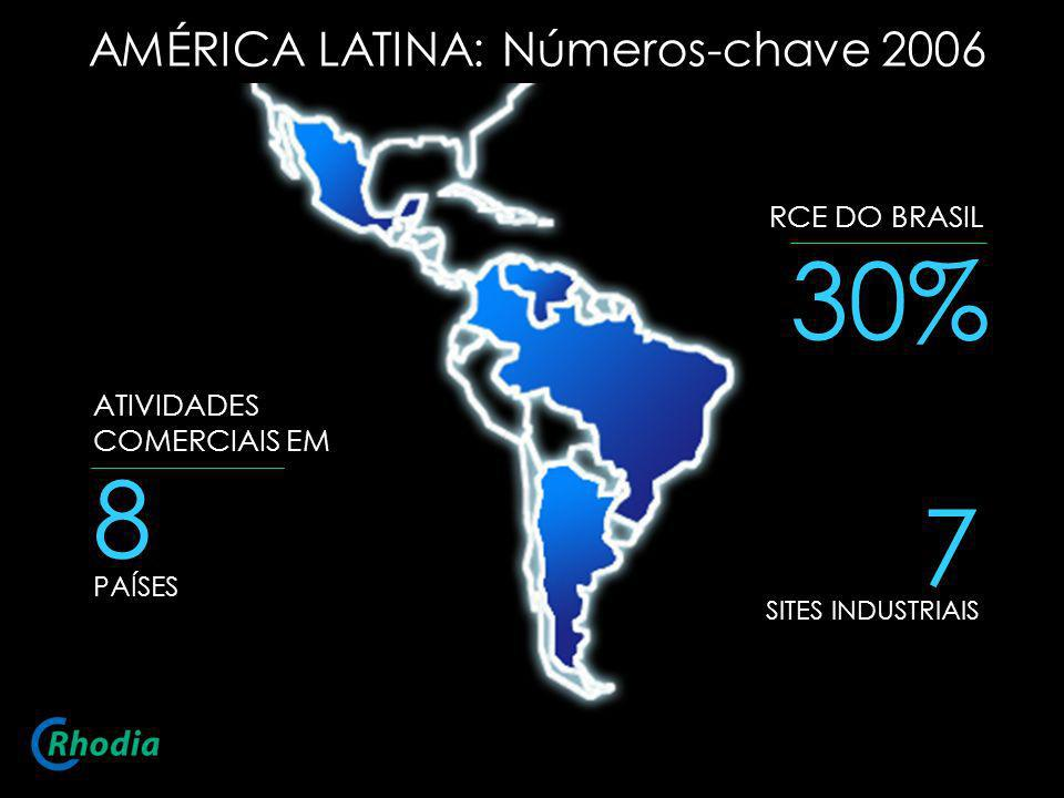 30% 8 7 AMÉRICA LATINA: Números-chave 2006 RCE DO BRASIL