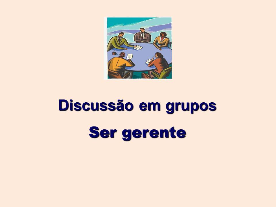 Discussão em grupos Ser gerente