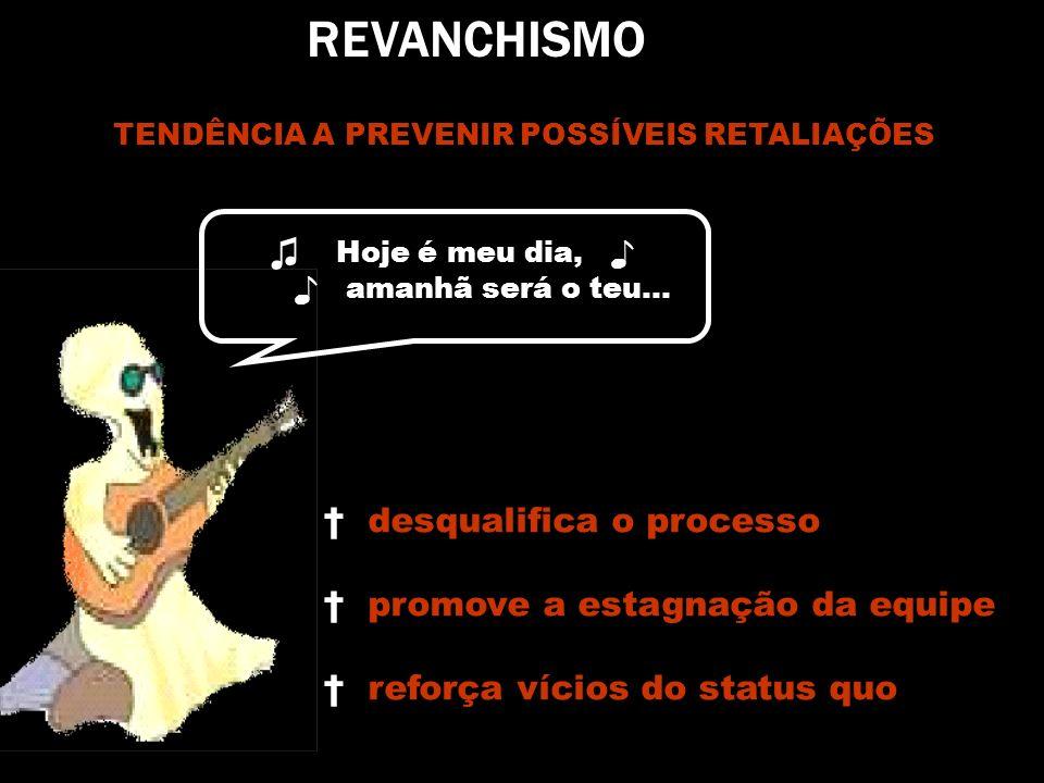 REVANCHISMO ♫ Hoje é meu dia, ♪ desqualifica o processo