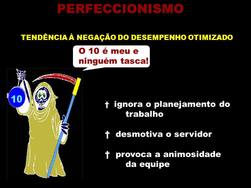 PERFECCIONISMO O 10 é meu e ninguém tasca! trabalho