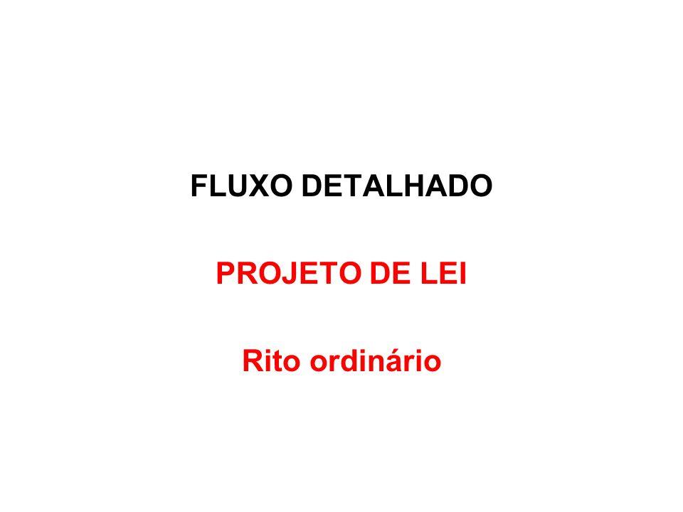 FLUXO DETALHADO PROJETO DE LEI Rito ordinário