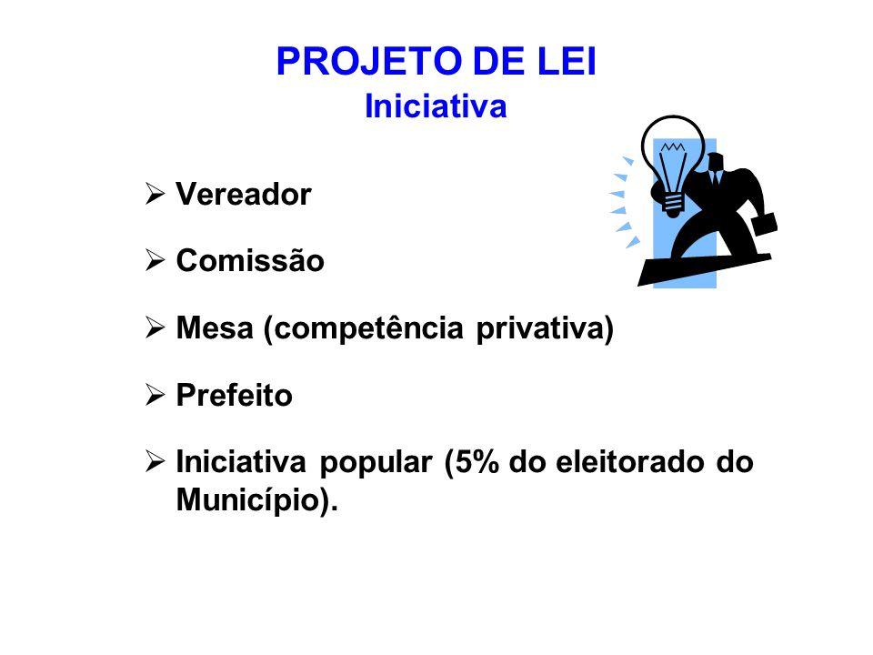 PROJETO DE LEI Iniciativa