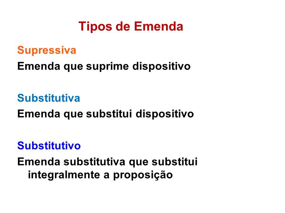 Tipos de Emenda